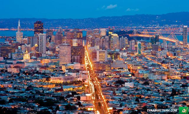 Vé máy bay giá rẻ nhất đi San Francisco hãng EVA Air