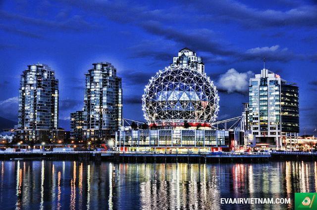 Đặt vé máy bay đi Vancouver hãng EVA Air