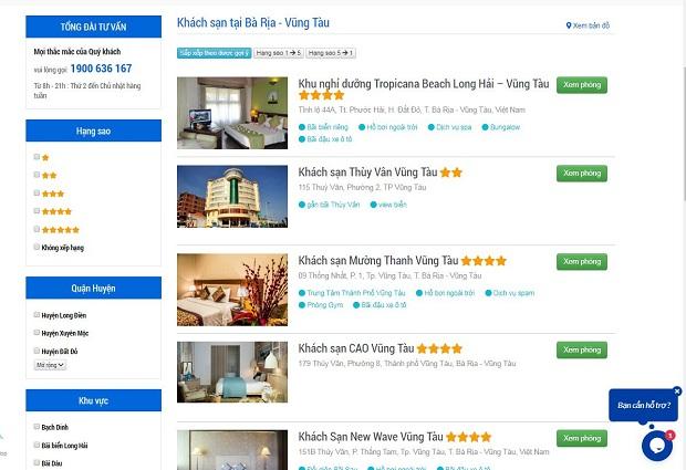 Trang web đặt phòng khách sạn vietnam booking