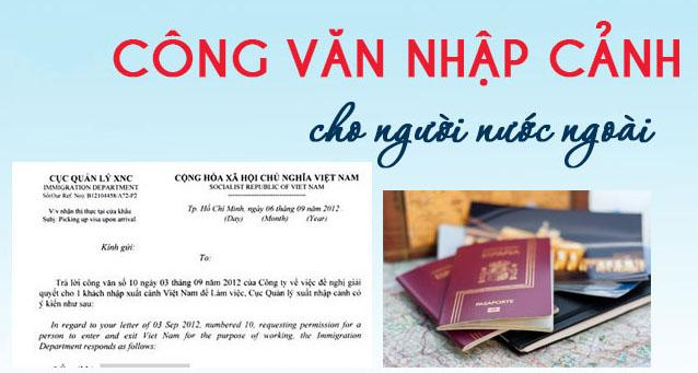 Dịch vụ xin công văn nhập cảnh cho chuyên gia nước ngoài trọn gói